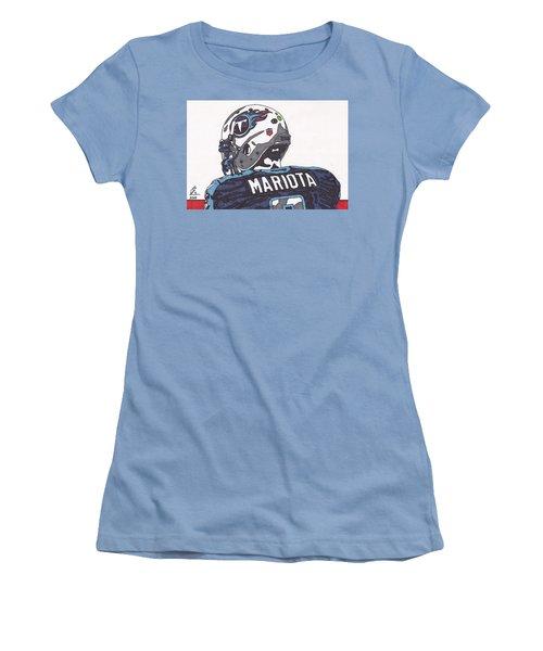 Marcus Mariota Titans 2 Women's T-Shirt (Junior Cut) by Jeremiah Colley