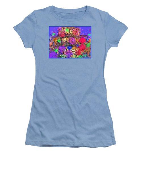 Women's T-Shirt (Junior Cut) featuring the digital art Mardi Gras by Alec Drake