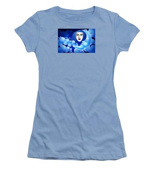 Women's T-Shirt (Junior Cut) featuring the photograph Mardi Gras At Night by Gary Crockett