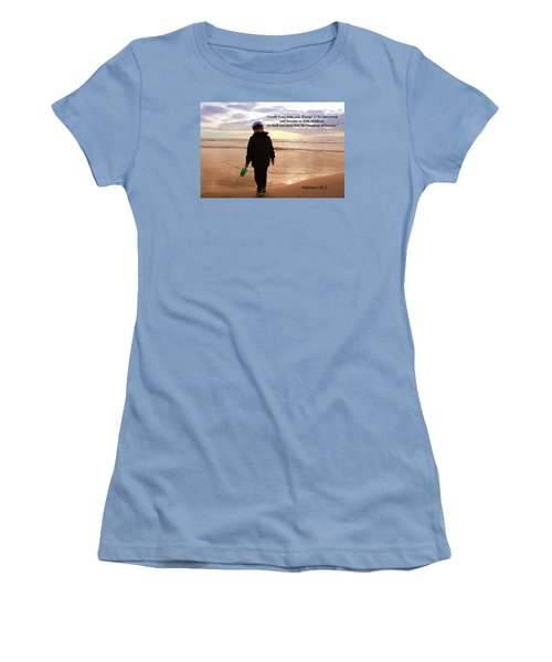 Women's T-Shirt (Athletic Fit) featuring the photograph Matthew Eighteen Three by Aaron Berg