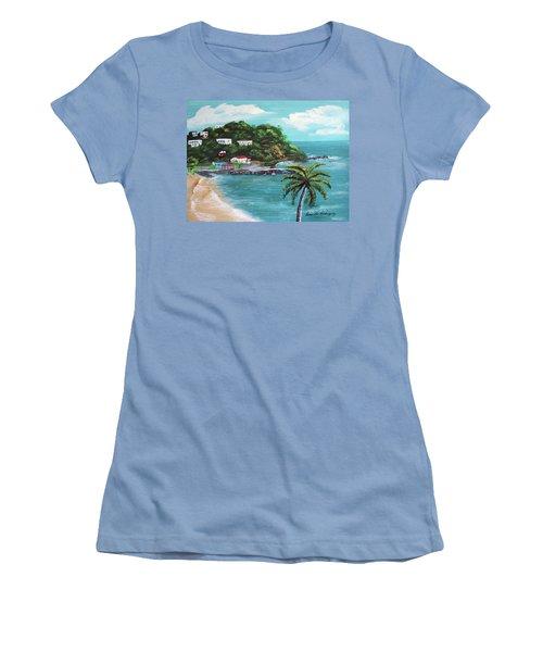 Maunabo Puerto Rico Women's T-Shirt (Junior Cut) by Luis F Rodriguez