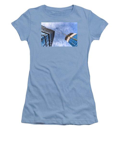 Meeting The New Neighbor Women's T-Shirt (Junior Cut) by Randy Scherkenbach
