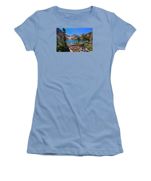 Women's T-Shirt (Junior Cut) featuring the photograph Merriam Lake by Greg Norrell