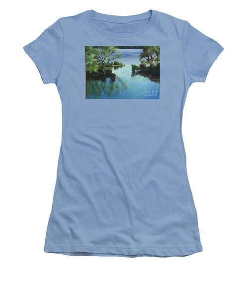 Merrimack River At Sunset Women's T-Shirt (Athletic Fit)