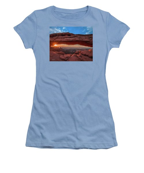 Mesa Arch At Sunrise 3, Canyonlands National Park, Utah Women's T-Shirt (Athletic Fit)