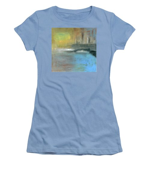 Women's T-Shirt (Junior Cut) featuring the painting Mid-summer Glow by Michal Mitak Mahgerefteh