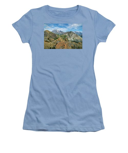 Women's T-Shirt (Junior Cut) featuring the photograph Midday At Iron Peak by Ken Stanback