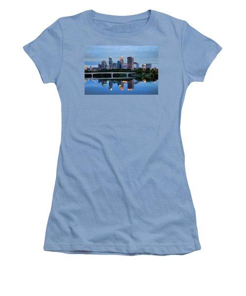 Minneapolis Reflections Women's T-Shirt (Junior Cut) by Rick Berk