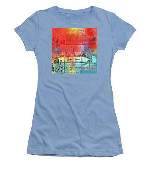 Women's T-Shirt (Junior Cut) featuring the photograph Minnesota Vikings Art by Susan Stone
