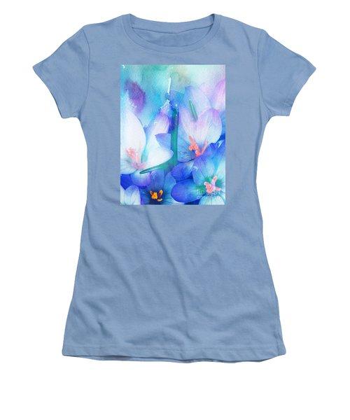 Women's T-Shirt (Junior Cut) featuring the digital art Mirthfulness by Klara Acel
