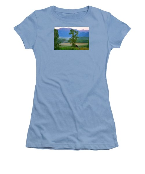 Misty Montana Evening Women's T-Shirt (Athletic Fit)