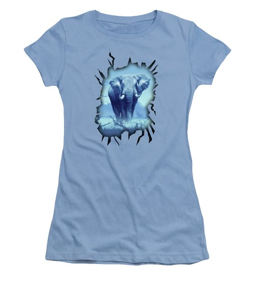 Misty Morning In The Tsavo Women's T-Shirt (Junior Cut) by Anthony Mwangi