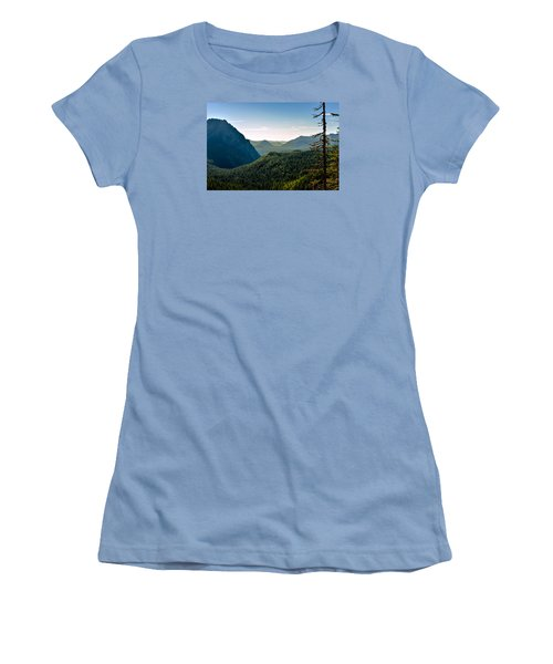 Women's T-Shirt (Junior Cut) featuring the photograph Misty Mountains by Anthony Baatz