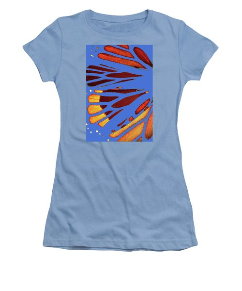 Monarch Abstract Blue Women's T-Shirt (Athletic Fit)