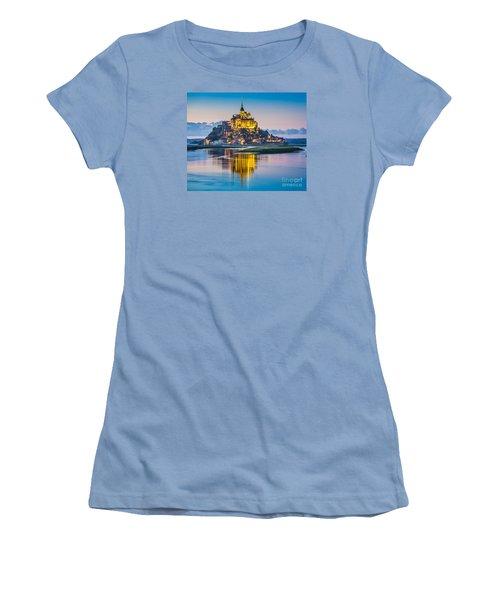 Mont Saint-michel In Twilight Women's T-Shirt (Junior Cut) by JR Photography