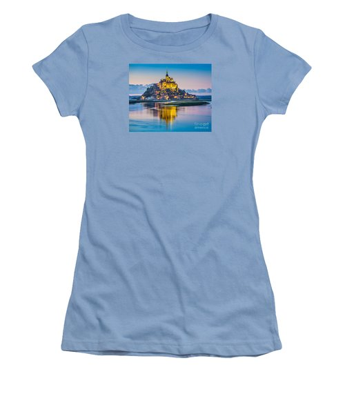 Mont Saint-michel In Twilight Women's T-Shirt (Athletic Fit)