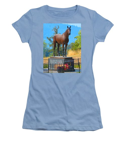 Monument To Seabiscuit Women's T-Shirt (Athletic Fit)