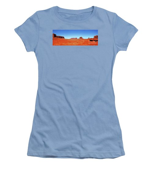 Women's T-Shirt (Junior Cut) featuring the photograph Monument Valley Two by Paul Mashburn