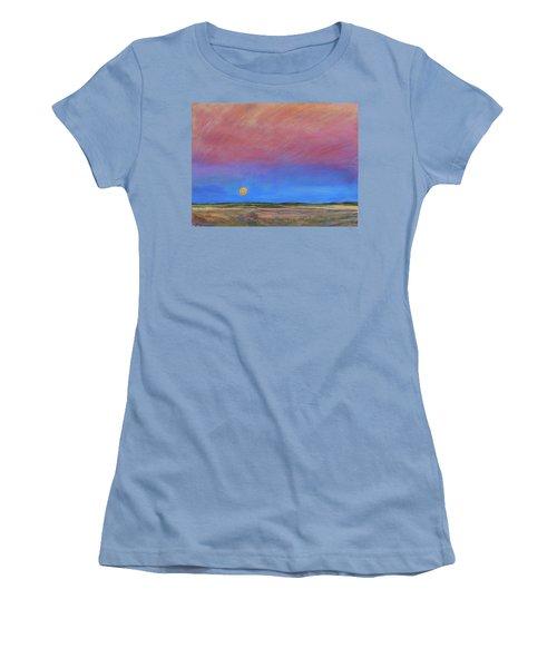 Harvest Moon  Women's T-Shirt (Junior Cut) by Helen Campbell