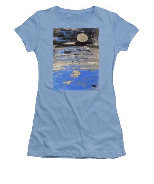 Moon In October Sky Women's T-Shirt (Junior Cut) by Mary Carol Williams