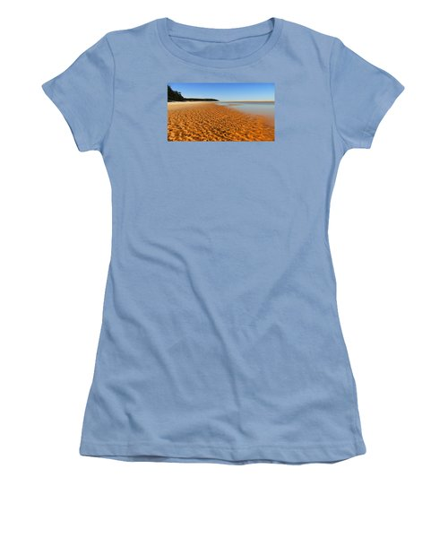 Women's T-Shirt (Junior Cut) featuring the photograph More Sand 01 by Kevin Chippindall