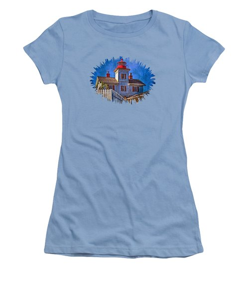 Morning At The Yaquina Bay Lighthouse Women's T-Shirt (Junior Cut) by Thom Zehrfeld