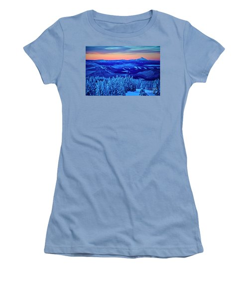 Morning From Timberline Lodge Women's T-Shirt (Athletic Fit)