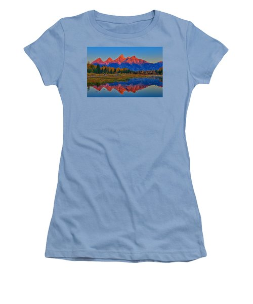 Women's T-Shirt (Junior Cut) featuring the photograph Morning Glow by Greg Norrell