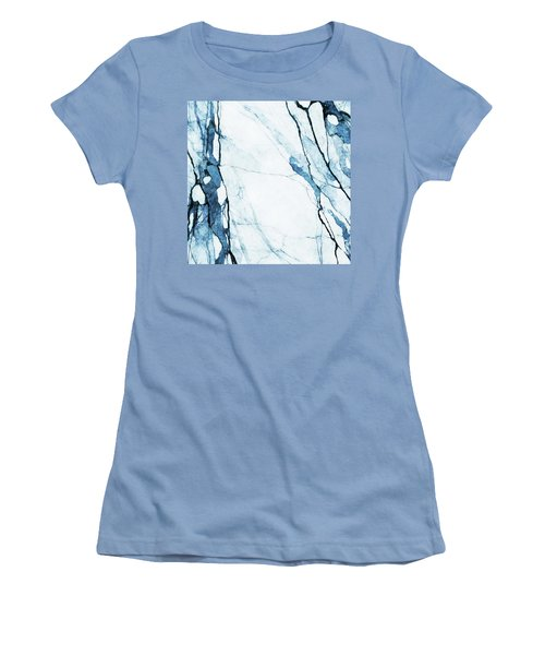 Moroccan Blues Women's T-Shirt (Junior Cut) by Uma Gokhale