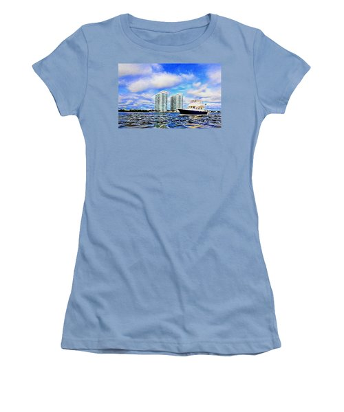 Motoring Past The Marina Grande Women's T-Shirt (Junior Cut) by Alice Gipson