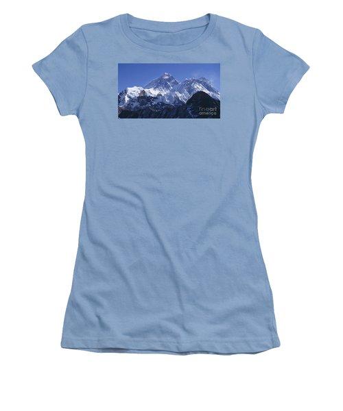 Mount Everest Nepal Women's T-Shirt (Junior Cut) by Rudi Prott