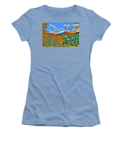 Mountain Beauty Of Fall Women's T-Shirt (Athletic Fit)