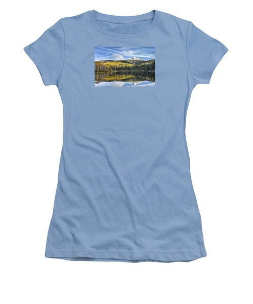 Mountain Lake Reflection Women's T-Shirt (Athletic Fit)