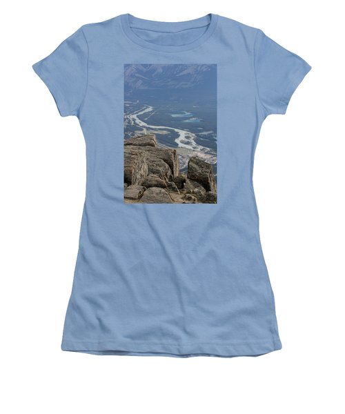 Women's T-Shirt (Junior Cut) featuring the photograph Mountain View by Mary Mikawoz
