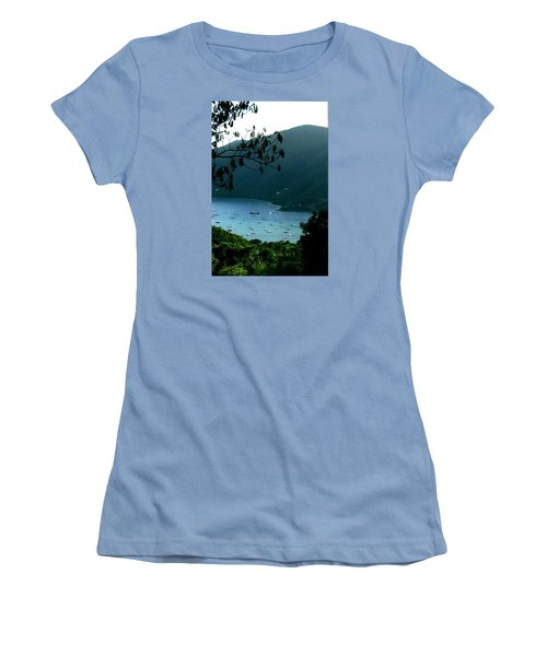 Mountainside Coral Bay Women's T-Shirt (Junior Cut) by Robert Nickologianis