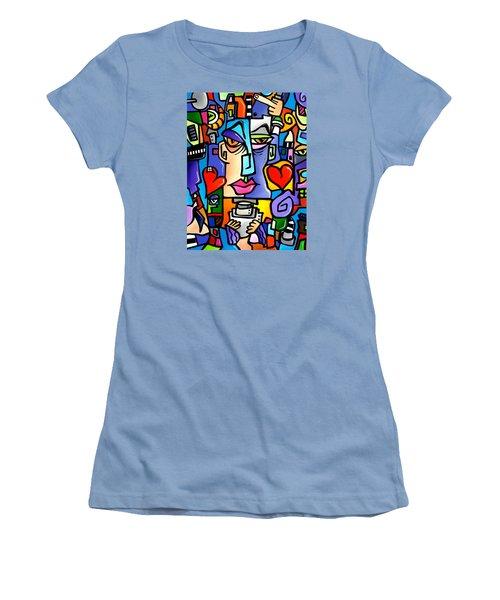 Mr Roboto Women's T-Shirt (Athletic Fit)