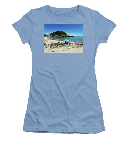 Mt Maunganui Beach 5 - Tauranga New Zealand Women's T-Shirt (Junior Cut) by Selena Boron