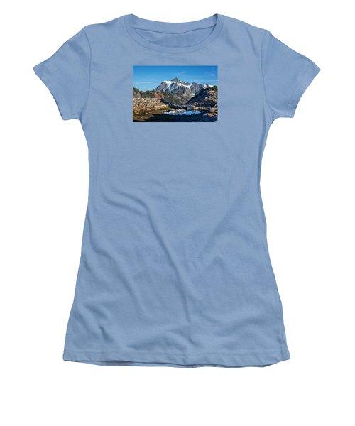 Mt. Shuksan Women's T-Shirt (Junior Cut) by Sabine Edrissi Photography