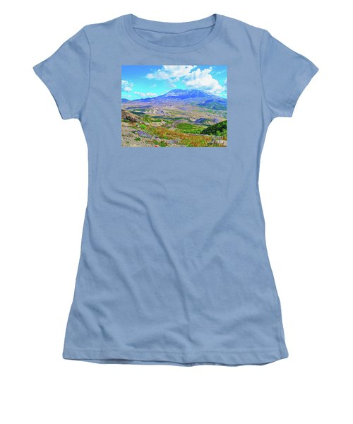 Mt. St. Helens Wildflowers Women's T-Shirt (Athletic Fit)