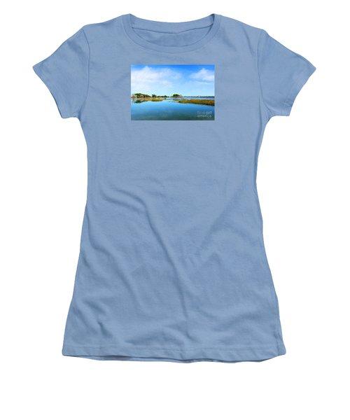 Murrells Inlet Women's T-Shirt (Junior Cut) by Kathy Baccari