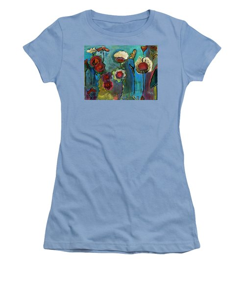 Women's T-Shirt (Junior Cut) featuring the painting My Mother's Garden by Susan Stone