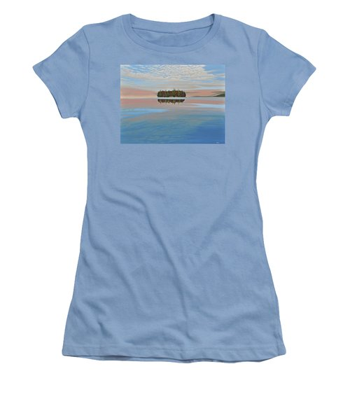 Women's T-Shirt (Junior Cut) featuring the painting Mystic Island by Kenneth M  Kirsch
