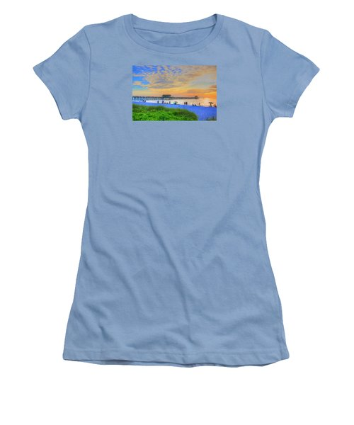 Naples Beach Women's T-Shirt (Junior Cut) by Sharon Batdorf