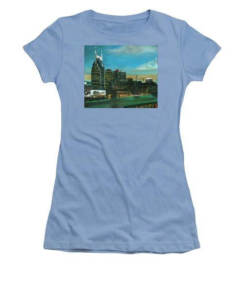 Nashville At Dusk Women's T-Shirt (Athletic Fit)