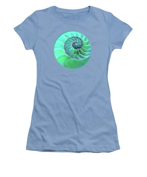 Nautilus Aqua Spiral Women's T-Shirt (Athletic Fit)