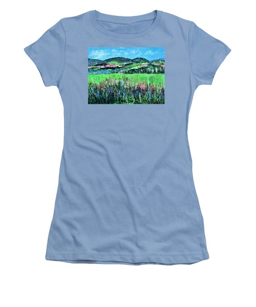 Women's T-Shirt (Junior Cut) featuring the painting Near Cooperstown by Betty Pieper
