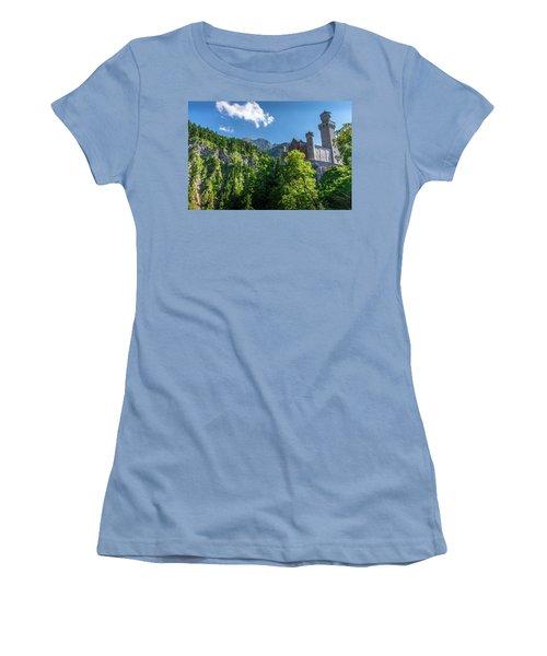 Women's T-Shirt (Junior Cut) featuring the photograph Neuschwanstein Castle by David Morefield