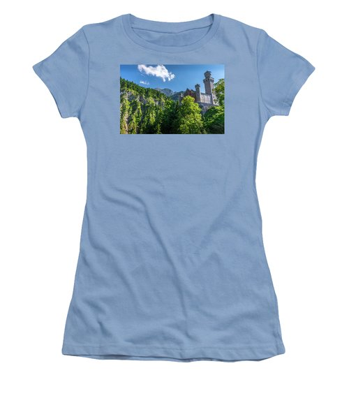 Women's T-Shirt (Athletic Fit) featuring the photograph Neuschwanstein Castle by David Morefield