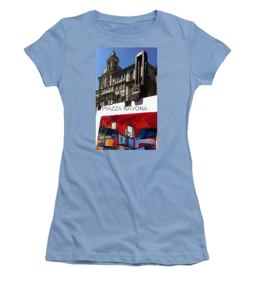 new work Piazza Navona Women's T-Shirt (Athletic Fit)