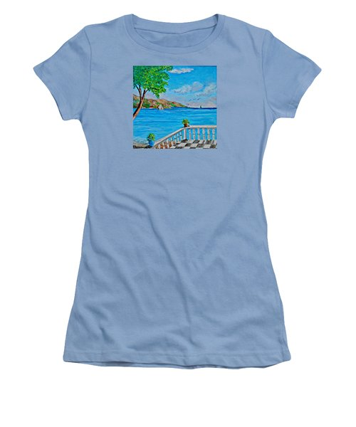 Nice View Women's T-Shirt (Athletic Fit)